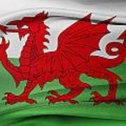Welsh Flag Art Print