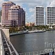 West Palm Beach Skyline Art Print
