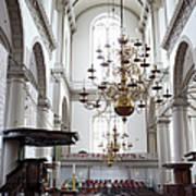 Westerkerk Interior In Amsterdam Art Print