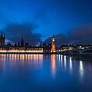 Westminster Blue Hour Art Print