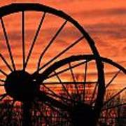 Wheel-n-axle Sunset.. Art Print