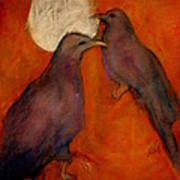When Crow Made The Moon Art Print by Johanna Elik