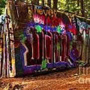 Whistler Train Wreck Box Car Art Print