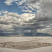 White Sands Rain Art Print