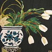 White Tulips Art Print by Lynda K Boardman