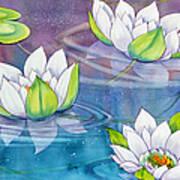 White Water Lilies Art Print