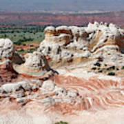 Whites Sandstone Buttes Art Print