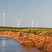 Wind Turbines On Atlantic Coast Art Print
