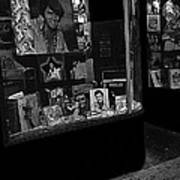 Window Display Night Of Elvis Presley's Death Recordland Portland Maine 1977 Art Print