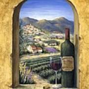 Wine And Lavender Art Print