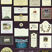 Wines Of The Napa Valley - Series 1 Art Print