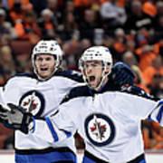 Winnipeg Jets V Anaheim Ducks - Game One Art Print