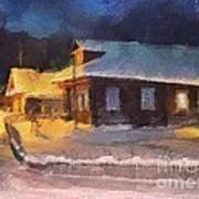 Winter Evening Art Print