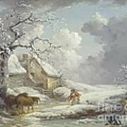 Winter Landscape Art Print by Pg Reproductions