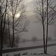 Winter Sunset In Kedron Valley II Art Print