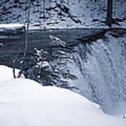 Winter Waterfall Snow Art Print