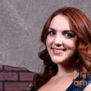 Woman Red Hair Art Print