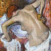 Woman Sponging Her Back Art Print