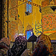 Women At Rumi's Mausoleum In Konya-turkey  Art Print