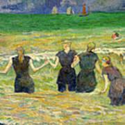 Women Bathing Art Print