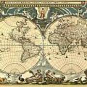 World Map Art Print by Gary Grayson