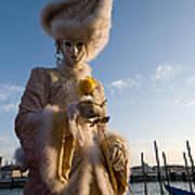Venetian Carnival. Yellow Rose Charmer By Zina Zinchik Art Print