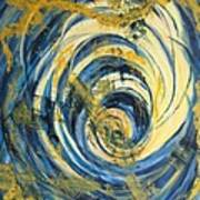 Yellow Spiral Art Print