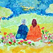 Yogananda And Swami Kriyananda Art Print