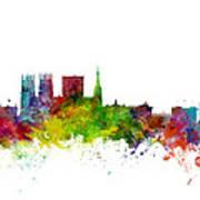 York England Skyline Art Print