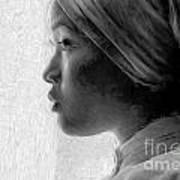 Young Woman In Turban Art Print