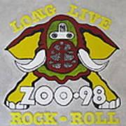 Zoo 98 Elephant Yellow Art Print