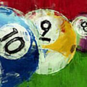 10 9 8 Billiards Abstract Art Print