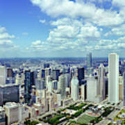 Aerial View Of A City, Chicago, Cook Art Print