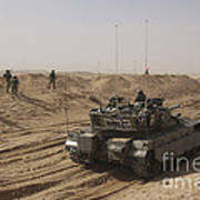 An Israel Defense Force Merkava Mark II Art Print