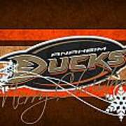 Anaheim Ducks Art Print