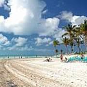Beach At Coco Cay Art Print