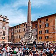 Piazza Della Rotonda In Rome Art Print