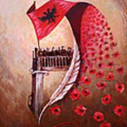 100 Vjetori I Pavaresis Se Shqiperise  Art Print