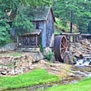 Sixes Mill On Dukes Creek - Square Art Print