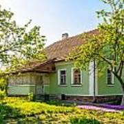 A Typical Ukrainian Antique House Art Print