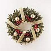 Advent Christmas Wreath  Art Print