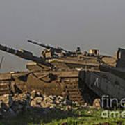 An Israel Defense Force Merkava Mark Iv Art Print