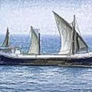 Fishing Vessel In The Arabian Sea Art Print