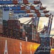 Hamburg Harbor Container Terminal Art Print