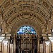 Interior Of St Georges Hall Liverpool Uk Art Print