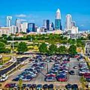 Skyline Of Uptown Charlotte North Carolina Art Print
