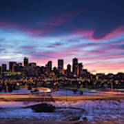 Usa, Colorado, Denver, City View Art Print
