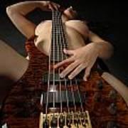1117 Nude Woman With Guitar Art Print
