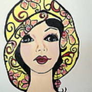Flapper Girl Claire Art Print
