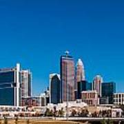 Charlotte City Skyline Autumn Season Art Print